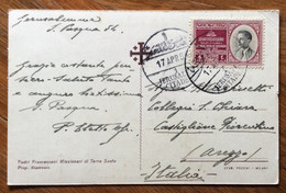 PALESTINA - IL DESERTO DI S.GIOVANNI - POST CARD FROM  JERUSALEM CITADE 17/4/54 TO AREZZO - ITALY - Mundo
