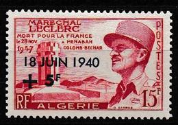 1957 ALGERIE Y&T N° 345 N* - Unused Stamps