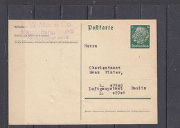 GERMANIA  - Postkarte - Hindenburg - Interi Postali