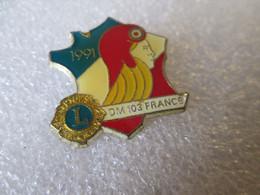 PIN'S   LIONS   CARTE DE FRANCE - Autres