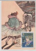 """Carte Maximum France : Toulouse-Lautrec""""Entrée En Piste"""" 12/03/65. No Y. Et T. 1426. - 1960-69"""