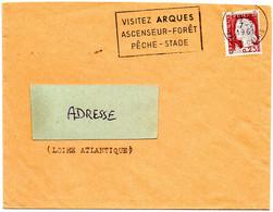 PAS De CALAIS - Dépt N° 62 = ARQUES 1961 = FLAMME Thème BATTELLERIE = SECAP  'VISITEZ  ASCENSEUR / PECHE - STADE' - Annullamenti Meccanici (pubblicitari)