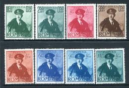 Romania 1940 Aviation Fund Set HM (SG 1430-1437) - Unused Stamps