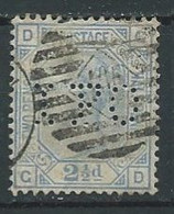 Grande-Bretagne YT N°62 Reine Victoria (Perforé IFO) Oblitéré ° - Usados