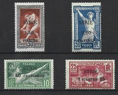 Syrie Y&v 122-25 Série Neuve * Charnière Tb 1924 - Neufs