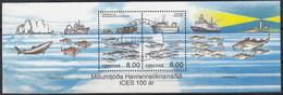 FÄRÖER  Block 14, Gestempelt, Meeresforschung, 2002 - Isole Faroer