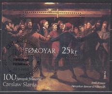 FÄRÖER  Block 15, Gestempelt, Briefmarken-Gravur, 2003 - Isole Faroer