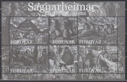 FÄRÖER Block 21, Postfrisch **, Die Sagenwelt, 2008 - Isole Faroer