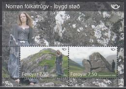 FÄRÖER Block 22, Postfrisch **, NORDEN: Nordische Mythen, 2008 - Isole Faroer