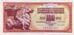 Yugoslavia 100 Dinara, P-90c (16.5.1986) - UNC - Yougoslavie