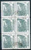 NB - [601288]TB//O/Used-c:15e-N° 306N, 100w Vert-noir, Cloche Du Roi Kyongdok, En Bloc De 6, C:15e - Korea, South