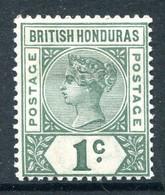 British Honduras 1891-1901 QV - 1c Dull Green HM (SG 51) - British Honduras (...-1970)