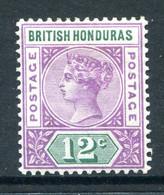 British Honduras 1891-1901 QV - 12c Reddish-lilac & Green HM (SG 59) - British Honduras (...-1970)