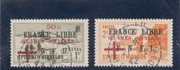 St Pierre & Miquelon - 1942 - 310/11 -  Obl. - Timbres De 1941 Surchargés Oeuvres Sociales - Used Stamps