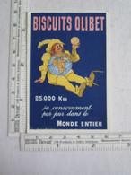 Publicité Petit Calendrier Biscuits Olibet 1910 Illustrateur Mario Pezilla Dirigeable - Autres
