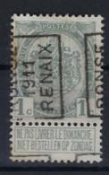 Rijkswapen Nr. 81 Voorafgestempeld Nr. 1646  A  RONSE 1911 RENAIX ; Staat Zie Scan ! - Roller Precancels 1910-19