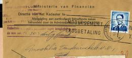 Env. (ent. )  Obl. BRUXELLES - BRUSSEL  - Q Q - Du 05/06/70 - 1953-1972 Lunettes