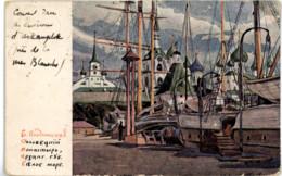 RUSSIE RUSSIA Couvent Près De La Mer Blanche Litho - Russie