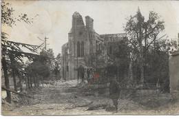 CARTE-PHOTO MARNE  WW1 GUEUX   Etat De La Commune L'Eglise Détruite  Occupation Allemande - Autres Communes