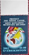Uzbekistan  2002 Protect The Ozone Layer  Flags  1 V MNH - Sonstige