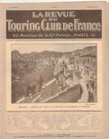 LA REVUE DU TOURING CLUB DE FRANCE 331 1922 MOUSTIERS MENNETOU ACORTA ANTIOCHE TEL KALAT LAUTARET RIBEAUVILLE LES BAUX - 1901-1940
