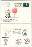 Montgolfières // Semaine Jules Verne Yverdon-les-Bains, Vol Ballon Reporté, Mauvaise Météo Signature J.Piccard Au Dos - Mongolfiere