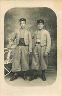 200621 - CARTE PHOTO MILITARIA ZOUAVE ? SPAHI ? CROISSANT 6 EME REGIMENT CALOT - Uniforms