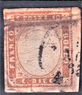 Sardaigne YT 11 Oblit Nov 1863 Belles Marges - Non Classificati