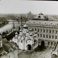 RUSSIE  - PLAQUE DE VERRE  -  MOSCOU COTE DE ST SAUVEUR   3 SCANS - Diapositivas De Vidrio