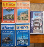 Lot De 5 Cassettes Vidéos VHS - J'aime La France + Voyage Du Monde - Documentari