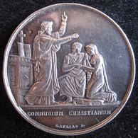 Médaille Mariage Argent, Attribué à A. Lecourt Et C. Potel 28 Juillet 1845 - Andere
