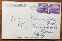 TRINIDAD & TOBAGO  - POST CARD PAR AVION  With 10 C. Pair   To ROMA  - ITALY - Mundo