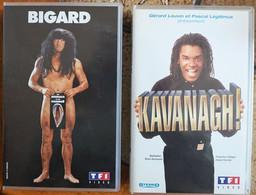 Lot De 2 Cassettes Vidéos VHS - JM Bigard + Kavanagh - Concert & Music