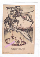 CPA :14 X 9 - ALBERTO  MARTINI - LA  DANZA  MACABRE  EUROPEA  N° 14 - LA  VENGEANCE DE L'AUTRICHE MARÂTRE - Autres Illustrateurs