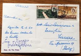 RHODESIA & NYASALAND  - ILO DE PIRATE - DIGA   - POST CARD PAR AVION  With 6+3 D. 12/6/60   To ROMA  - ITALY - Mundo