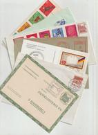 Bundesrepublik Deutschland - 7 Belege (dabei Reco, Zeppelinstempel, Freistempel, Funklotteriepostkarte (1246-40) - Covers