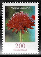 Bund 2020,Michel# 3556R ** Blumen: Purpur-Knautie, Mit Rollennr. 90 - Rollenmarken