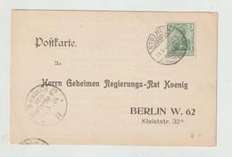 Deutsches Reich - 1904 - Vordruckpostkarte An Geheimen Regierungs-Rat Koenig Ex Strehlen, Inhalt !! (1249) - Storia Postale
