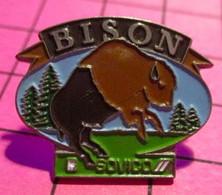 621 Pin's Pins / Beau Et Rare / THEME : ANIMAUX / BISON A MOITIE EPILE SOVICO - Animali