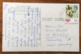 "FIJI - THE "" FIJIAN "" BEACH  -  POST CARD Par Avion  With 15 C.   To GERMANY - Mundo"