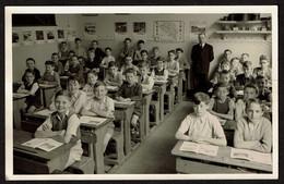 Carte Photo - Ecole D'autrefois - Classe De Garçons - Voir Scans - Scuole