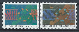 Finlande  YT 1110-1111 Neuf Sans Charnière XX MNH Europa 1991 Espace Space - Ungebraucht