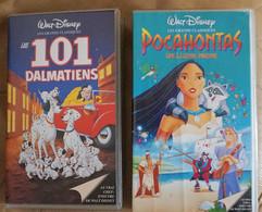 Lot De 2 Cassettes Vidéos VHS - Pocahontas + Les 101 Dalmatiens - Cartoons
