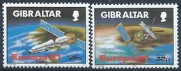 Gibraltar YT 622-623 Neuf Sans Charnière XX MNH Europa 1991 Espace Space - Gibraltar