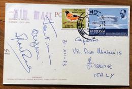 TEMATICA ALBERGHI CEYLON (SRI LANKA)- QUEEN'S HOTEL  -  POST CARD PAR AVION  With  75+15 C.  To FIRENZE - ITALY 31/12/73 - Mundo