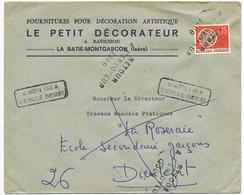 DROME ENV 1966 LINEAIRE GC N° 1300 DIEULEFIT CACHET AU VERSO 1966 / / PREO ANNULE REGLEMENTAIREMENT PAR GRIFFE RETOUR - 1961-....