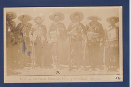 CPA Mexique Révolution Carte Photo Voir Dos Francisco Villa - Mexico