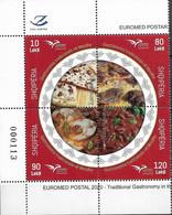 2020  ALBANIA ALBANIE ALBANIEN MI.    **MNH  EUROMED Gastronomy In The Mediterranean - Europese Gedachte