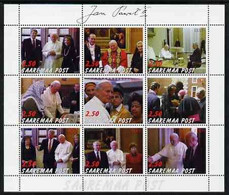 SAAREMAA - 2000 - Pope John Paul II #2 - Perf 9v Sheet - Mint Never Hinged - Private Issue - Estonie
