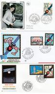 France Italie Nations Unies 2004 FDC 's Sécurité Routière Emission Commune Joint Issue Italy UN FDC's Road Safety - Gemeinschaftsausgaben